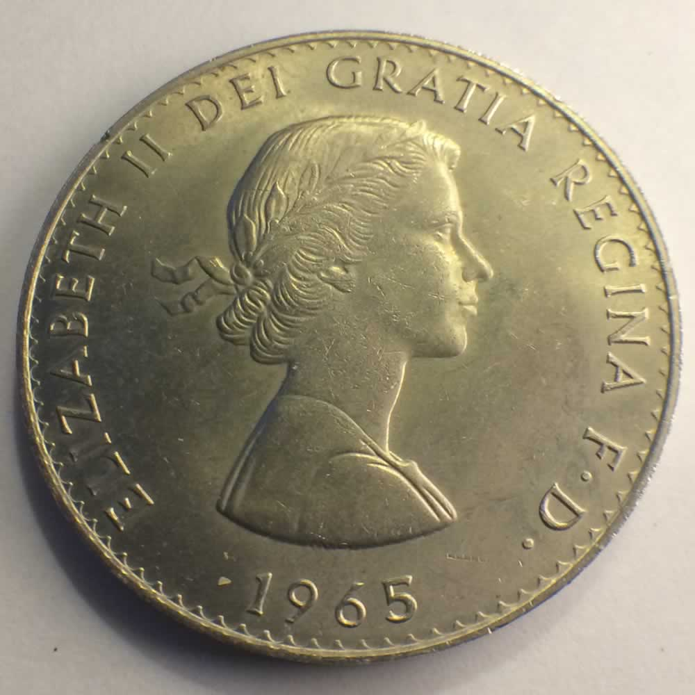 GB 1965  Winston Churchill Crown ( 1/4 LSD ) - Obverse