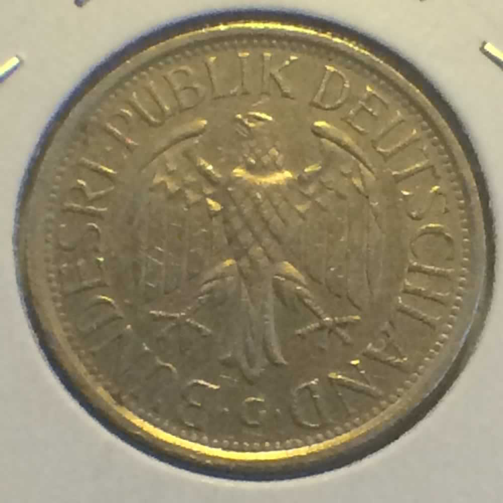 Germany 1981 G 1 Deutsche Mark ( DM 1 ) - Obverse