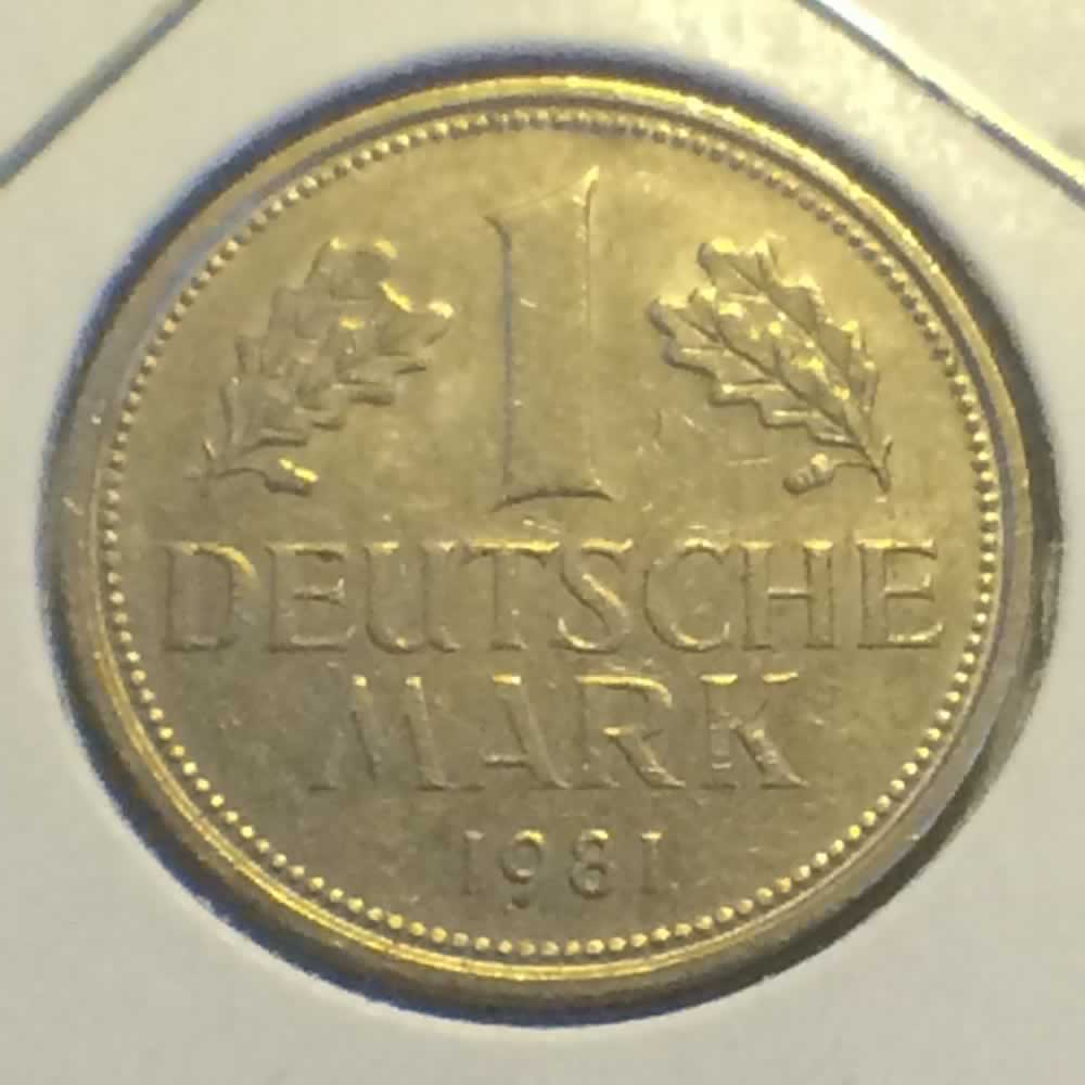 Germany 1981 D 1 Deutsche Mark ( DM 1 ) - Reverse