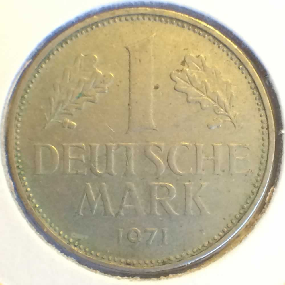 Germany 1971 G 1 Deutsche Mark ( DM 1 ) - Obverse
