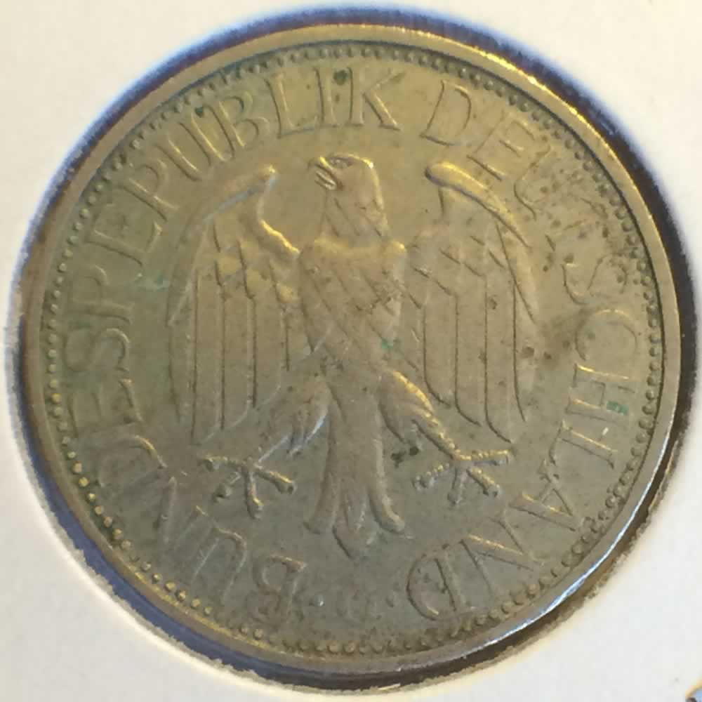 Germany 1971 G 1 Deutsche Mark ( DM 1 ) - Reverse