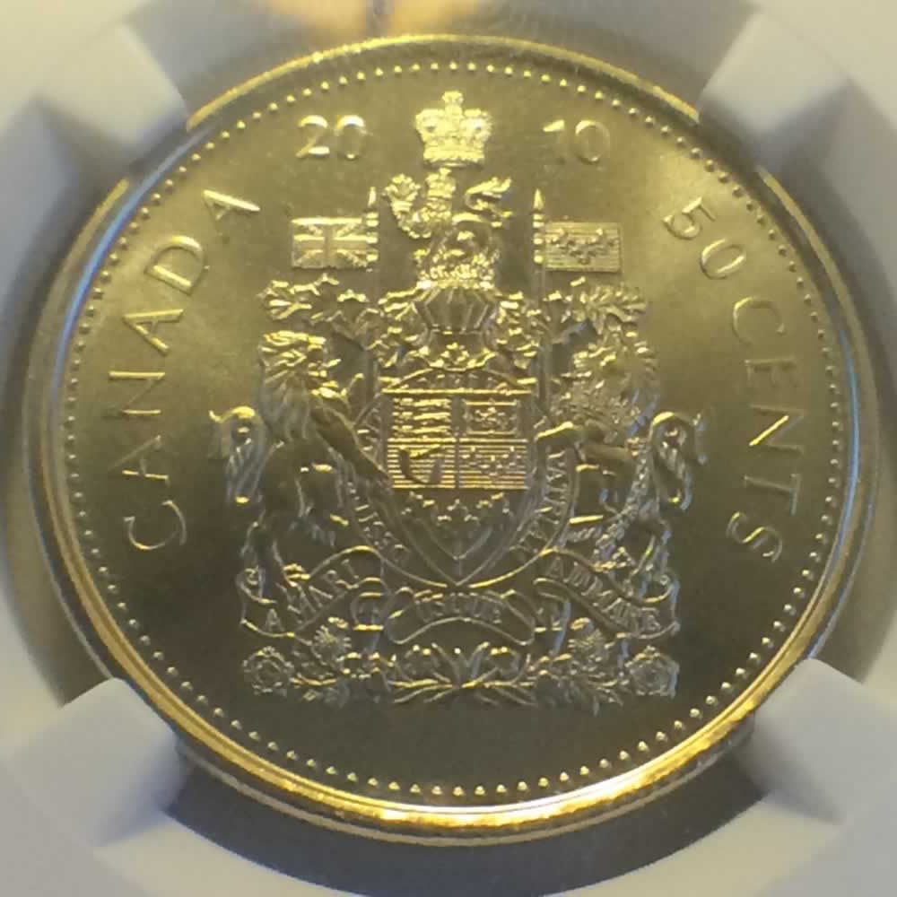 Canada 2010  Canadian Fifty Cents ( C50C ) - Reverse