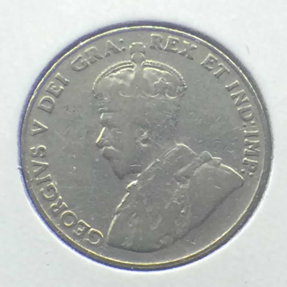 Canada 1927  Canadian 5 Cents ( C5C ) - Obverse