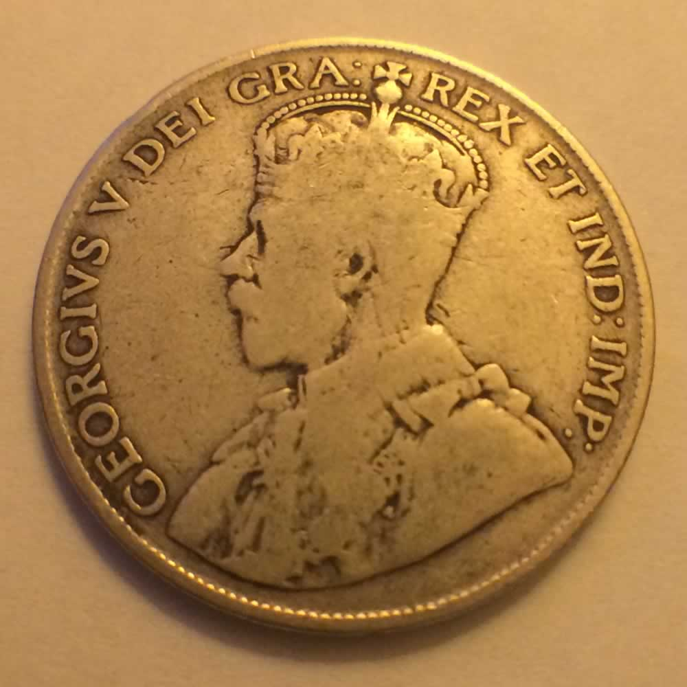 Canada 1917  Canadian Silver 50 Cents ( C50C ) - Obverse