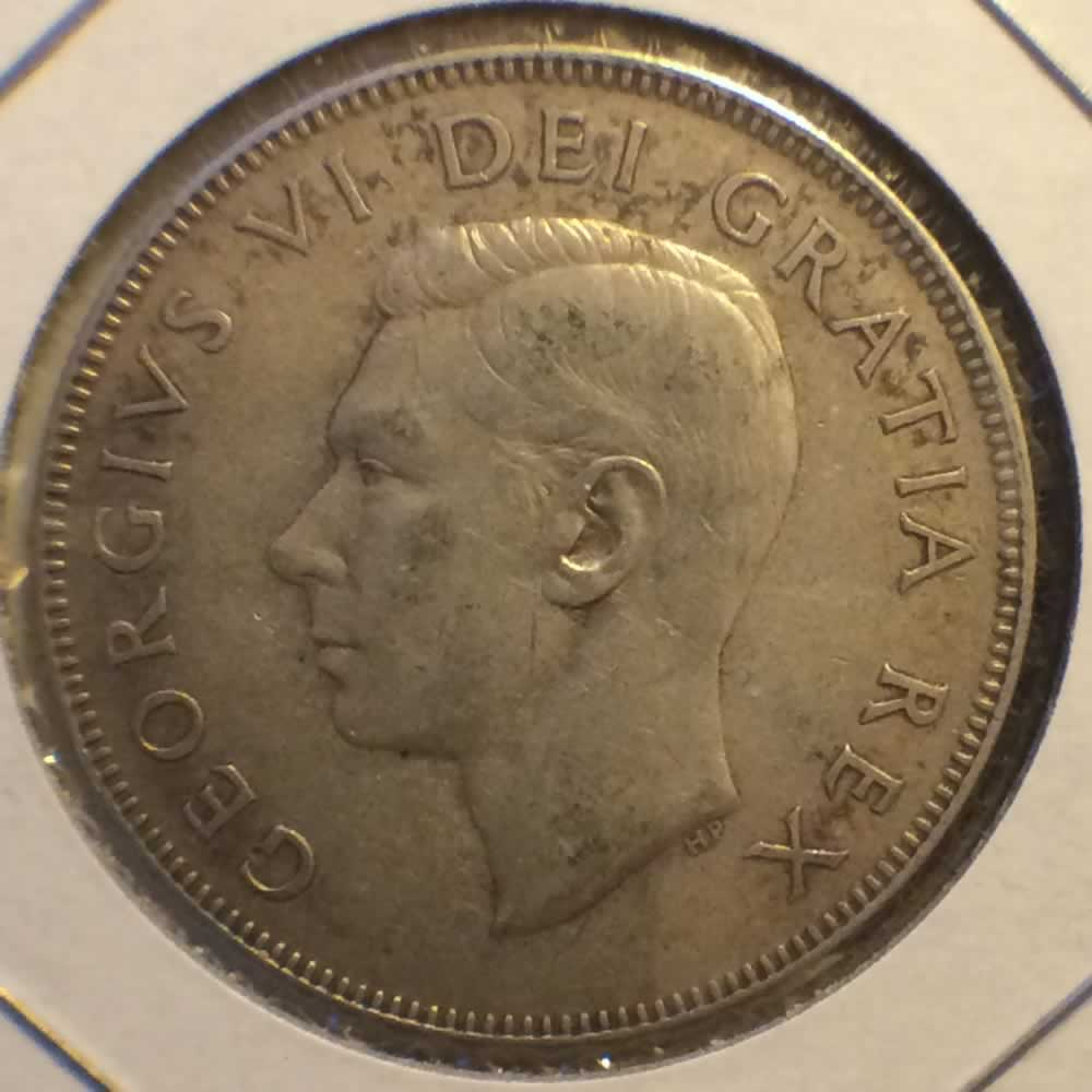 Canada 1952  Canadian 50 Cents ( C50C ) - Obverse