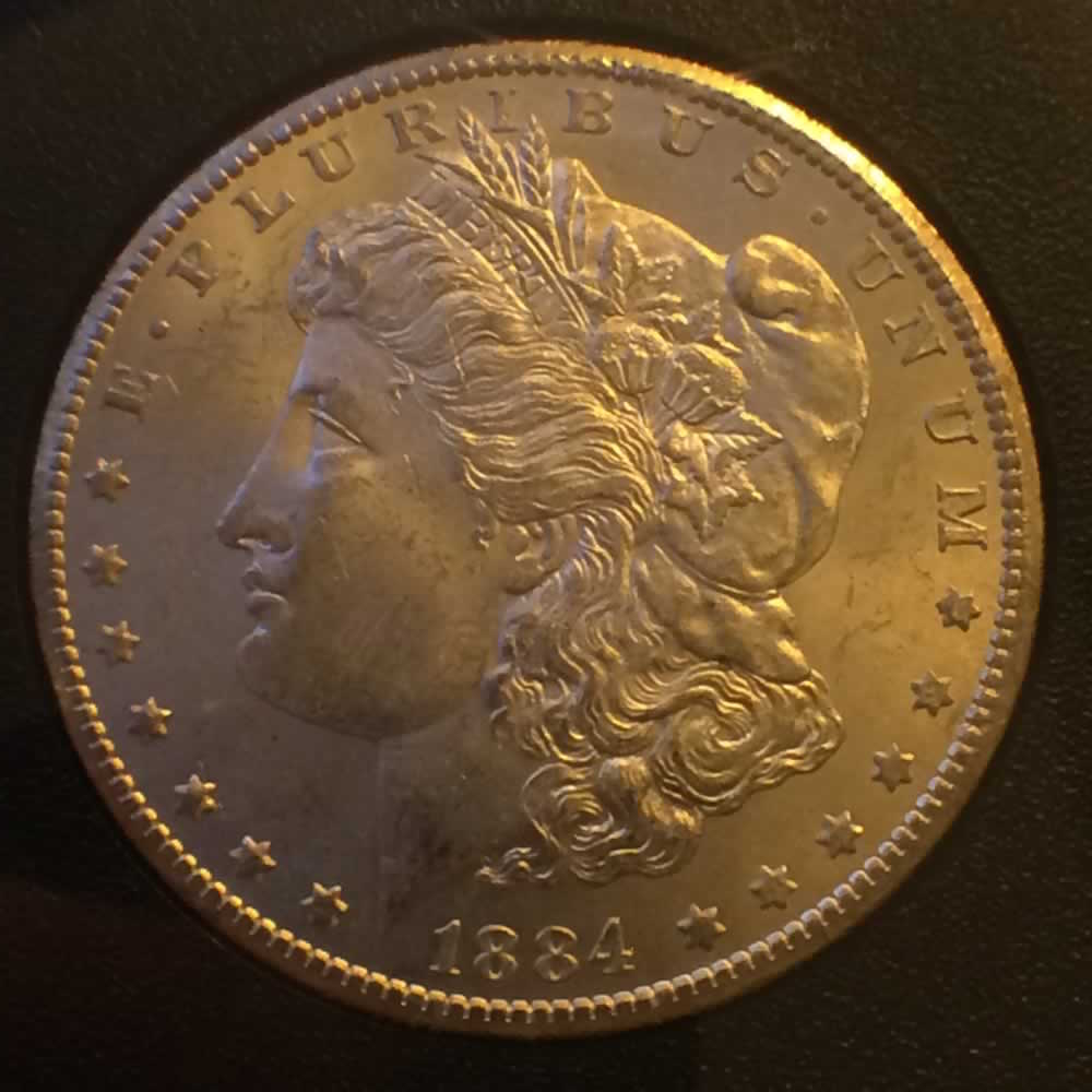 US 1884 CC Morgan Dollar ( S$1 ) - Obverse