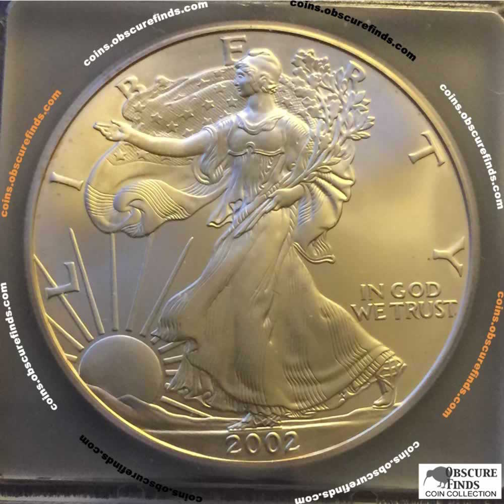 US 2002  Silver Eagle ( S$1 ) - Obverse