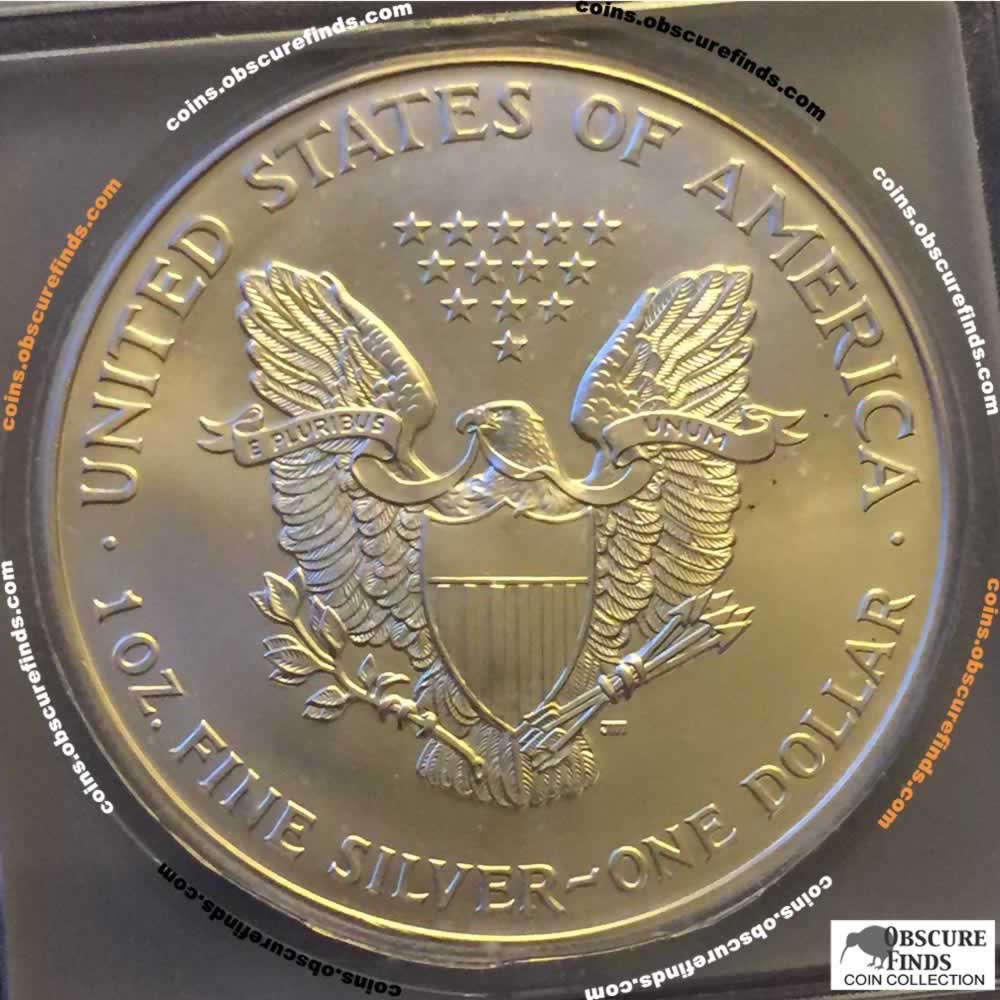 US 2002  Silver Eagle ( S$1 ) - Reverse