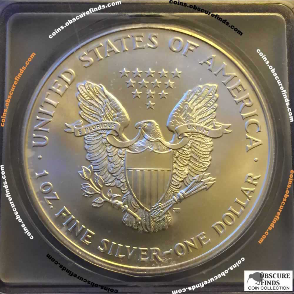 US 1999  Silver Eagle ( S$1 ) - Reverse