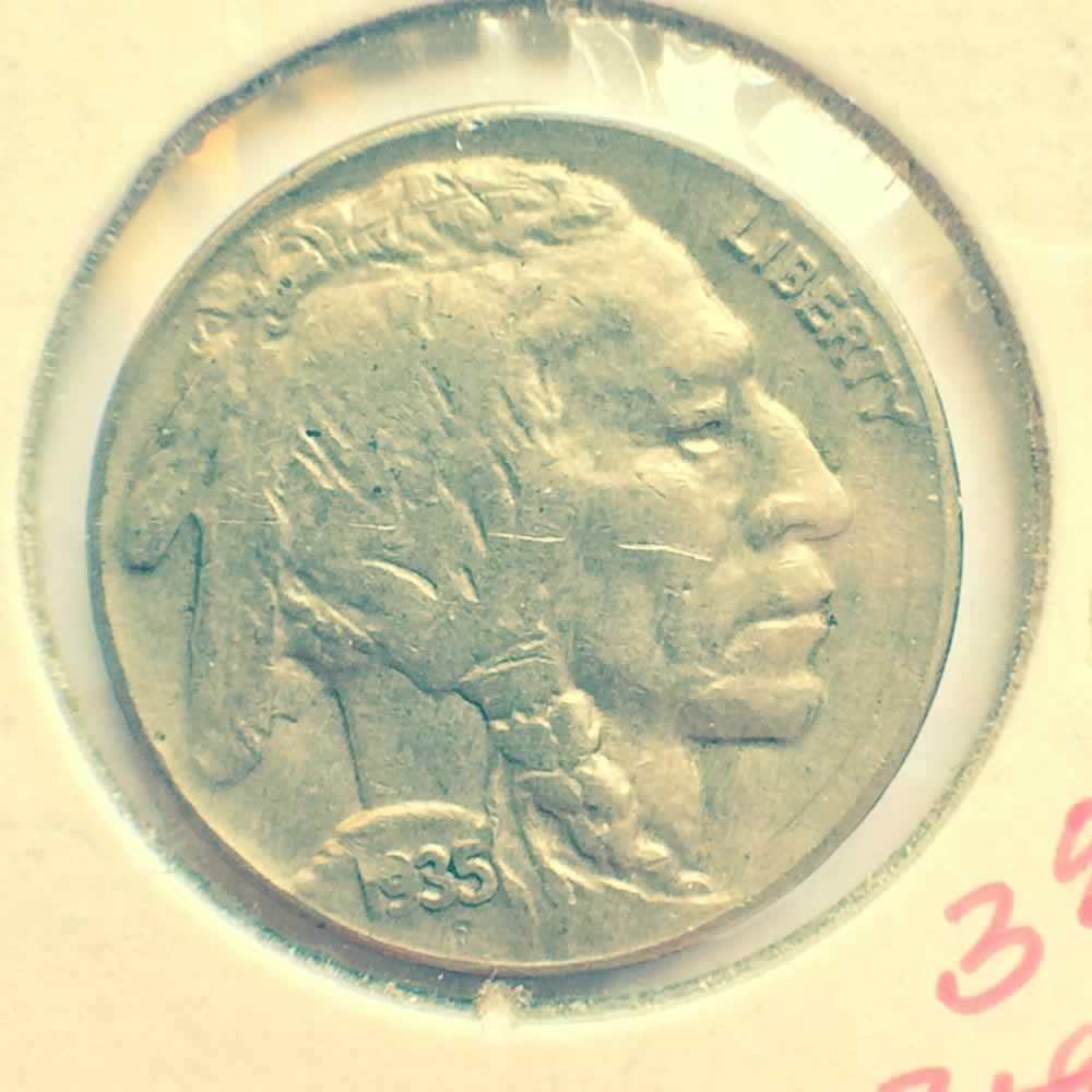 US 1935  Buffalo Nickel ( 5C ) - Obverse