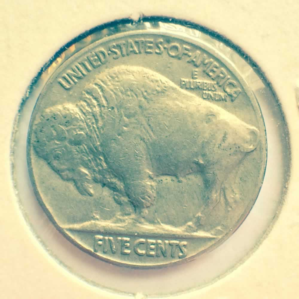 US 1935  Buffalo Nickel ( 5C ) - Reverse