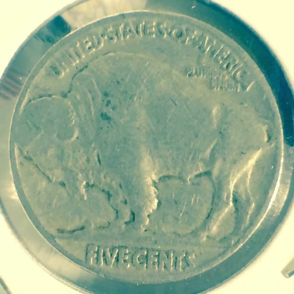 US 1937  Buffalo Nickel ( 5C ) - Reverse