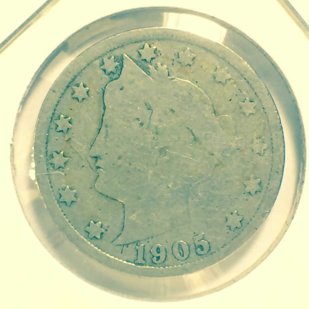 US 1905  Liberty Head 'V' Nickel ( 5C ) - Obverse