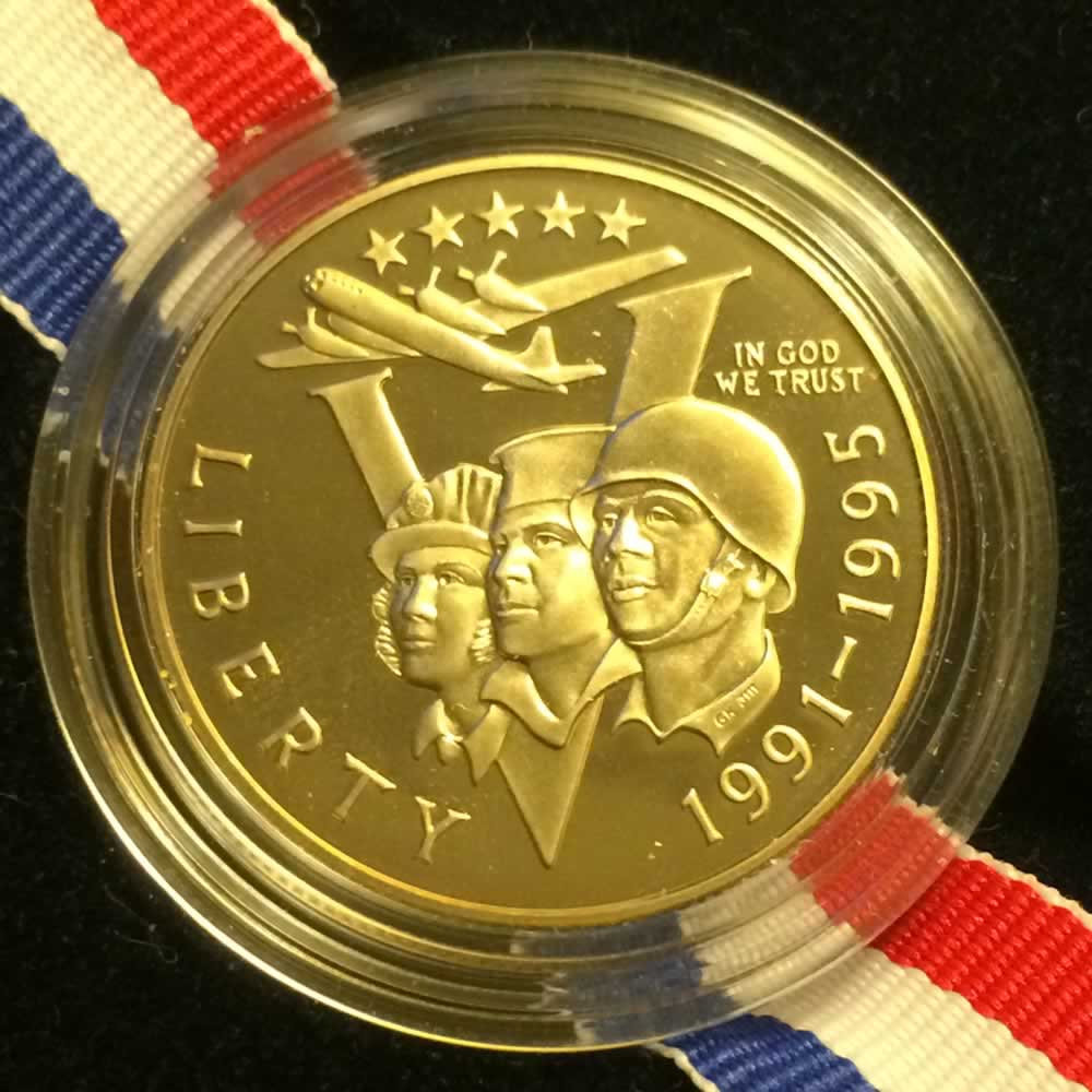US 1993 P WWII 50th Anniv. Half Dollar Proof ( 50C ) - Obverse