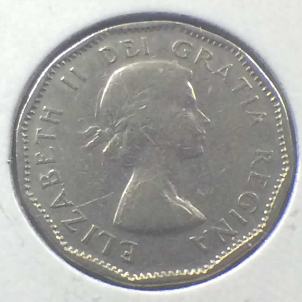 Canada 1956  Canadian 5 Cents ( C5C ) - Obverse