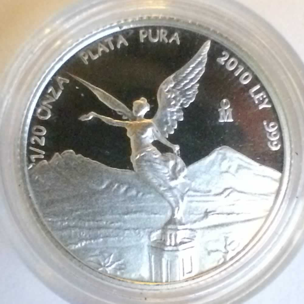 Mexico 2010 Mo 20th Onza Proof Libertad ( 1/20ozt ) - Reverse