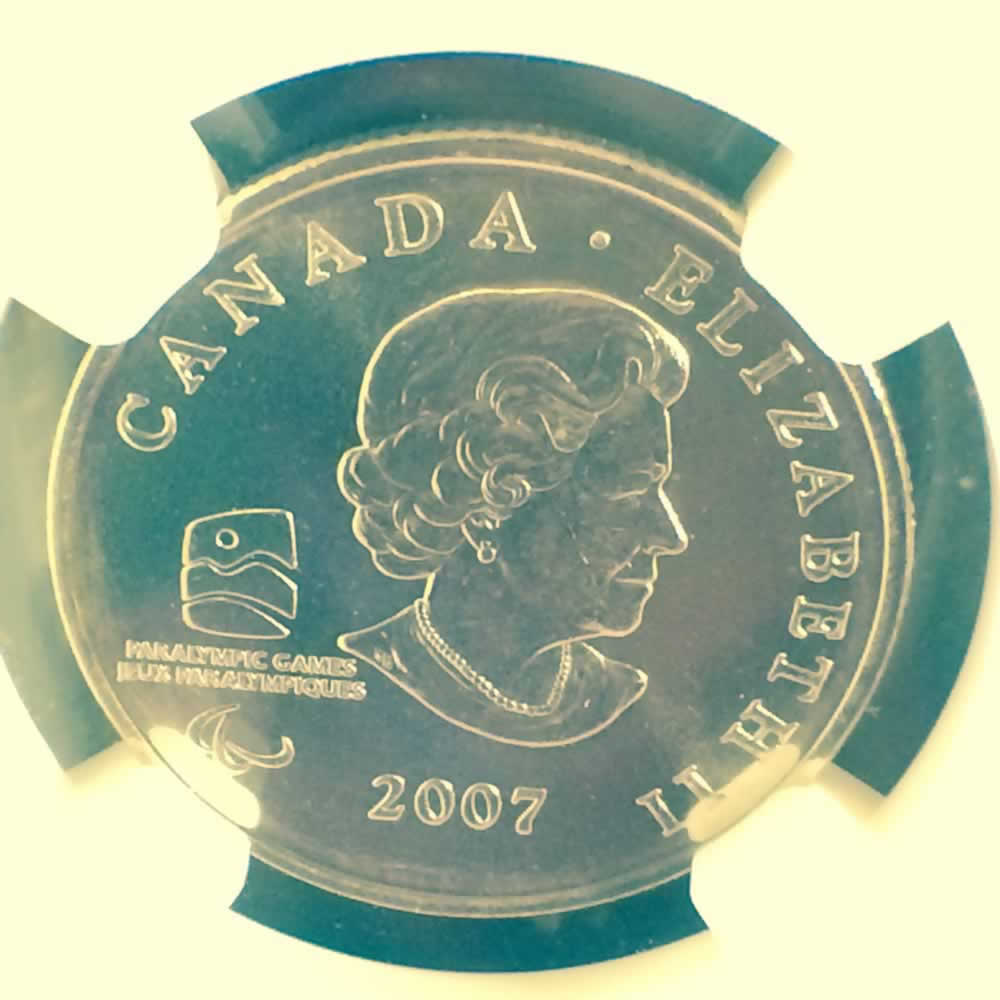 Canada 2007  Wheelchair Curling ( C25C ) - Obverse